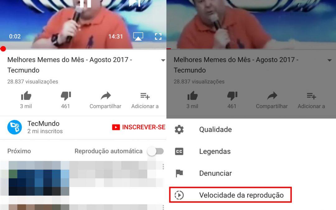 YouTube: saiba alterar a velocidade de reprodução dos vídeos no aplicativo