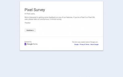Google lança pesquisa sobre o uso do Motion Photos para donos do Pixel 2